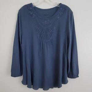 Nine West Vintage America Blue Top - M